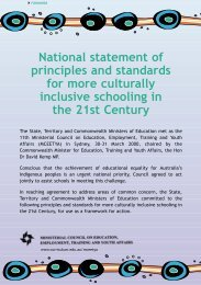 National statement of principles and standards for more culturally ...