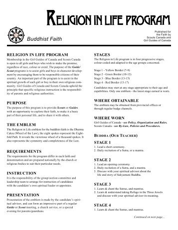 Buddhist Faith - Scouts Canada
