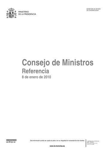Consejo de Ministros - La Moncloa