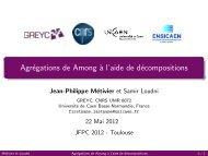 Agrégations de Among à l'aide de décompositions - LAAS CNRS