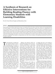 A Synthesis of Research on Effective Interventions for Building ...