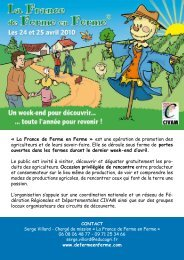 La France de Ferme en Ferme - Les agricultures alternatives
