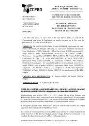 VOTE DU COMPTE ADMINISTRATIF 2012 : BUDGET ANNEXE ...