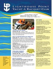 May/June 2009 - Lighthouse Point Yacht and Racquet Club