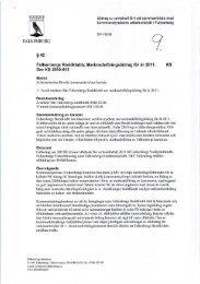 Marknadsföringsbidrag för år 2011. KS Dnr KS 2010-612