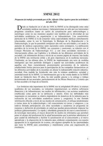 SMNE 2012 - Sociedad Mexicana de Nutricion y Endocrinologia