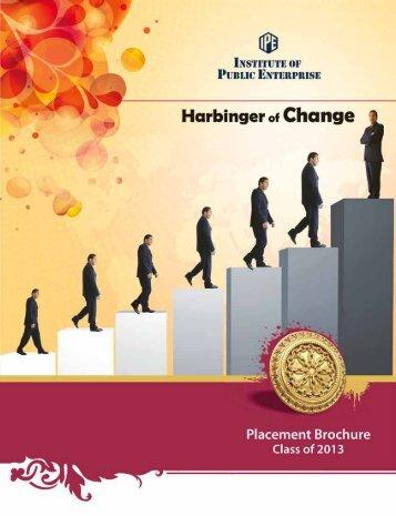 Placement Brochure - Institute of Public Enterprise