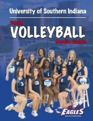 Media Guide - University of Southern Indiana