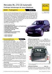 Mercedes ML 270 CDI Automatik - ADAC