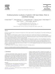 Oxidized proteins in plasma of patients with heart failure: Role in ...
