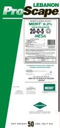 fertilizer with merit 0.2% grub preventer