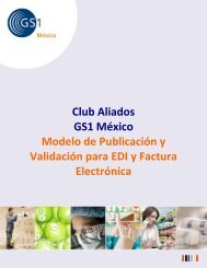 Club Aliados GS1 México Modelo de Publicación y Validación para ...