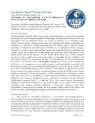Read summary - PICES WG27 North Pacific Climate Variability and ...