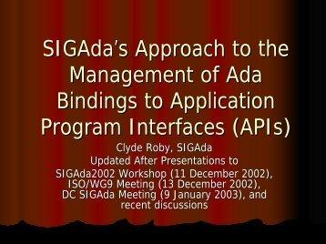 Presentation - SIGAda