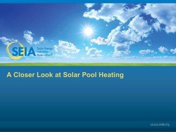 View Solar Pool Heating Technology Presentation.