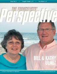 Winter Issue Evangelists' Perspective Magazine 2012