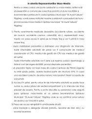 In atenŃia ReprezentanŃilor Mass-Media - Spitalul Municipal Fagaras