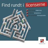 Find rundt i licenserne - EG A/S