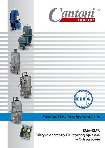 Zwalniaki elektrohydrauliczne - Cantoni Group