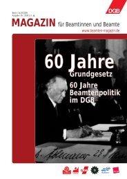 Grundgesetz 60 Jahre Beamtenpolitik im DGB - Landesbeamte