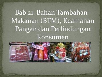 Bab 21. Bahan Tambahan Makanan (BTM ... - Blogs Unpad