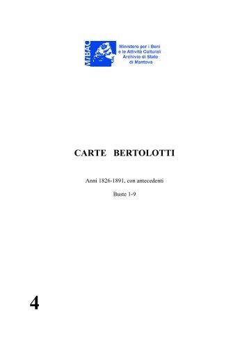 CARTE BERTOLOTTI - Istituto Centrale per gli Archivi
