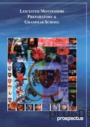 Download Prospectus - Leicester Montessori School
