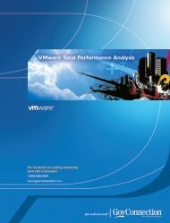 VMware Total Performance Analysis - GovConnection