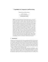 Capabilities for Uniqueness and Borrowing - LAMP - EPFL