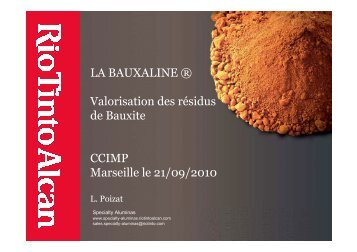 LPoizat Bauxaline - Environnement-Industrie