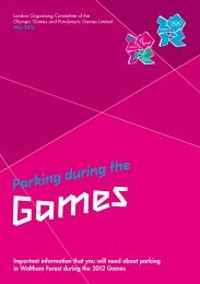 Games Parking during the - Waltham Forest Council