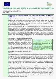 programme tous acp relatif aux produits de base agricoles - aaacp