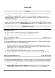 View Abhay's CV (PDF, 104KB) - Chartered Quality Institute