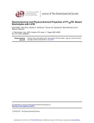 Electrochemical and Physicochemical Properties of PY14FSI-Based ...