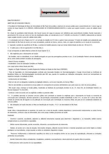 Edital FOB 008/2013 ABERTURA DE ... - PCI - Concursos