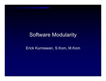 Software Modularity