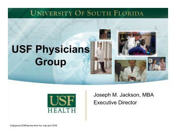 USF Physicians Group - University of South Florida System