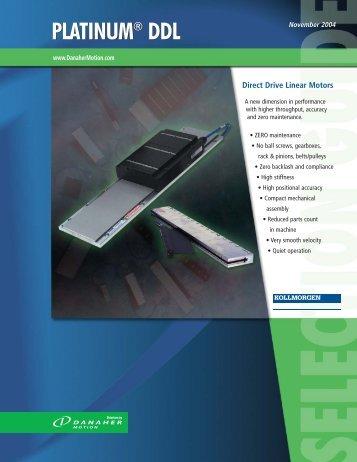 Kollmorgen series PLATINUM® DDL Direct Drive Linear motor