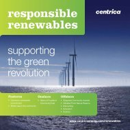 Responsible Renewables - Centrica