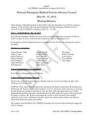 National Emergency Medical Services Advisory ... - NHTSA EMS
