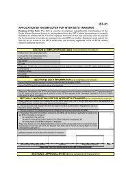 Inter SETA Transfer Form