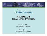 March 23, 2011 Fleet Innovation Seminar Chelsea Jenkins Director ...