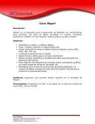 Curso de iReports - DCInternet