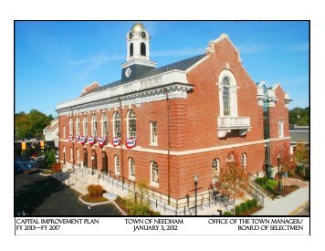 CAPITAL IMPROVEMENT PLAN TOWN OF NEEDHAM OFFICE OF ...