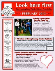 February 2013 - Framingham Public Library