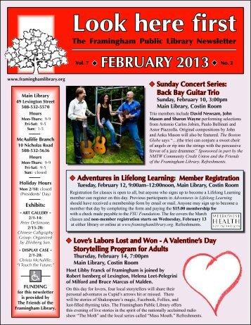 February 2013 - Framingham Public Library
