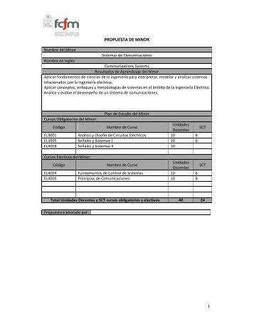 Minor en Sistemas de Comunicaciones - Escuela de Ingeniería y ...
