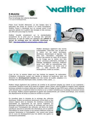 présentation de Walther recharge VE 02-2010 - Smart Grids