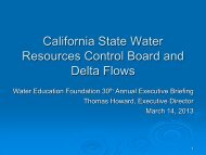 California State Water Resources Control Board and Delta Flows
