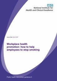 PHI5 Workplace smoking: guidance - NCSCT